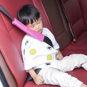 Image 3 - 1 Piece Baby Children Safety Strap Thick Plush Fabric Car Seat Belts Pillow Soft Shoulder Protection Pad Cushion Neck Seat Belt
