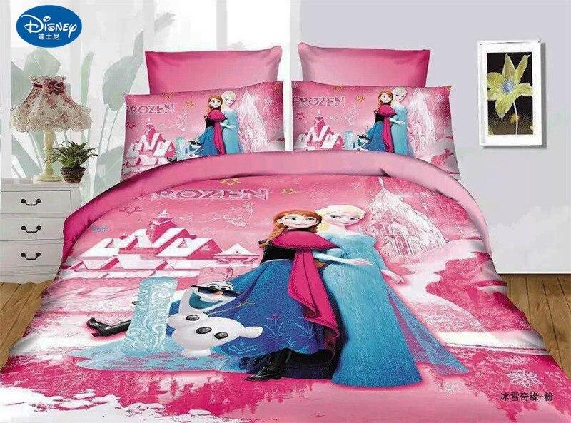 3Pcs Cotton Children Bedding Set Frozen Anna Elsa Home textile Girl bed set dorm room bedding