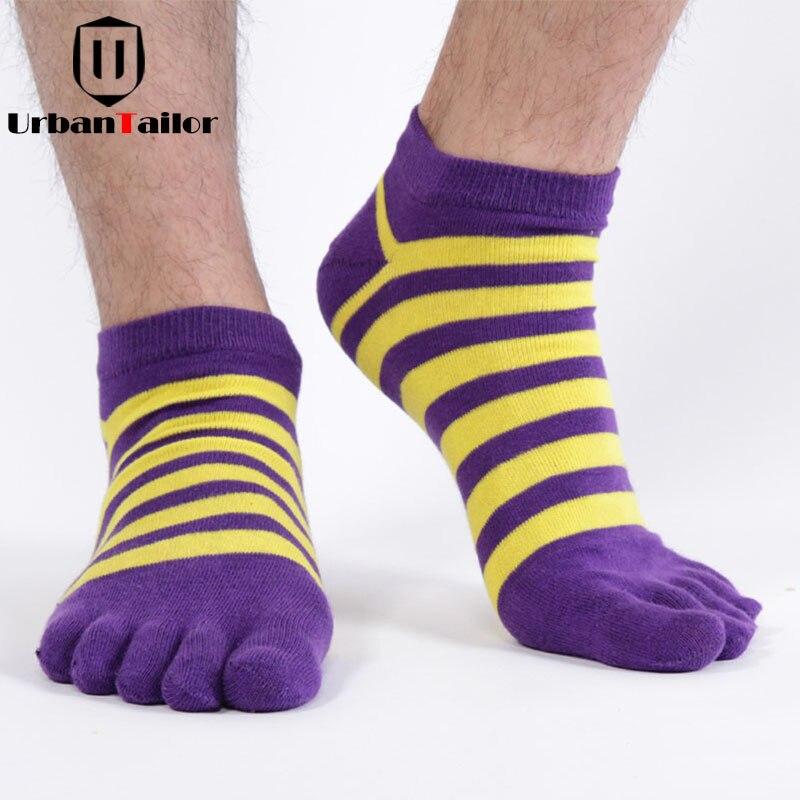 Brand Men Five Toe Socks Male Casual Combed Cotton Funny Socks Happy Warm Striped Socks High Quality Bodybuilding Socks