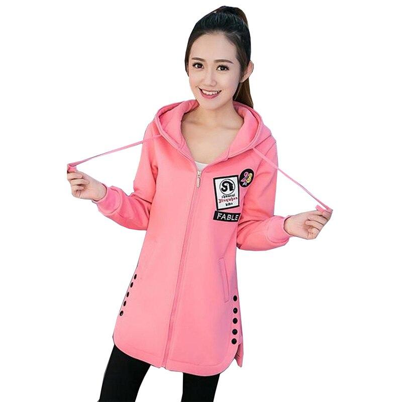 2018 femmes mode nouveau à capuche veste imprimer Zip col sweats à fermeture éclair à manches longues pull survêtements 2XL Hoodies NW683