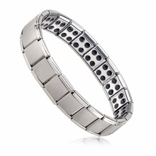 KUNIU Men's Germanium Titanium Steel Elastic Stretch Bracelet Bangle For Men Health Energy Ge Power Antifatigue