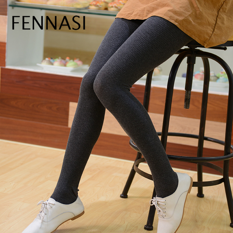 FENNASI 2018 High Quality Cotton Women's   Leggings   Winter Warm   leggings   Women Vertical Striped High Waist   Leggings   Women's Pants