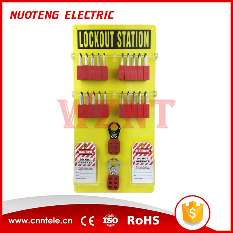 20-Lock Board Wall Mounted Lockout Tagout Stations