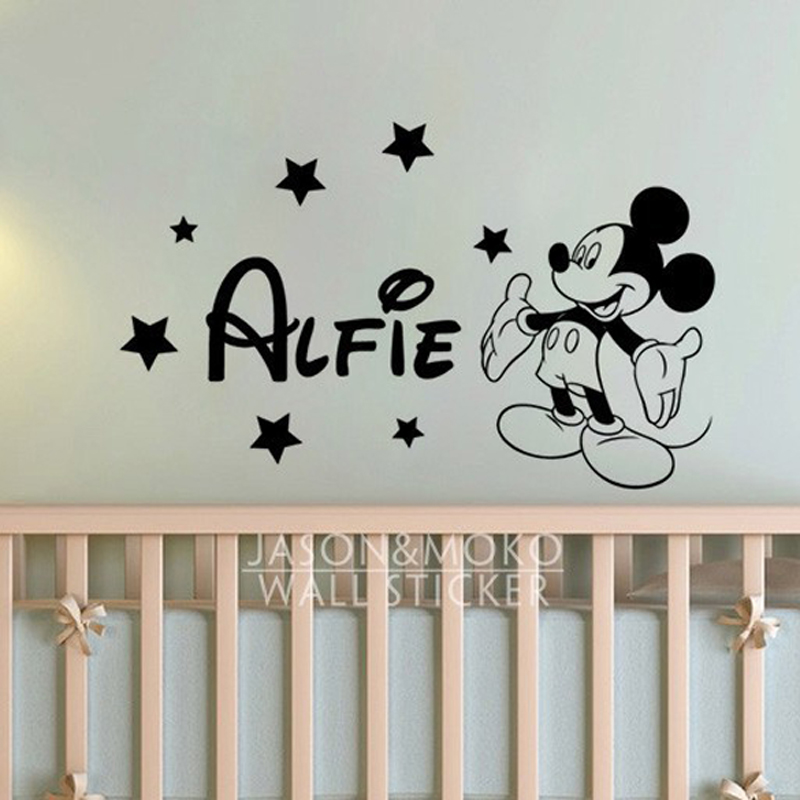 buy cute mickey mouse stars personalised customized wall sticker custom wall stickers wall art quotes designs gemma duffy