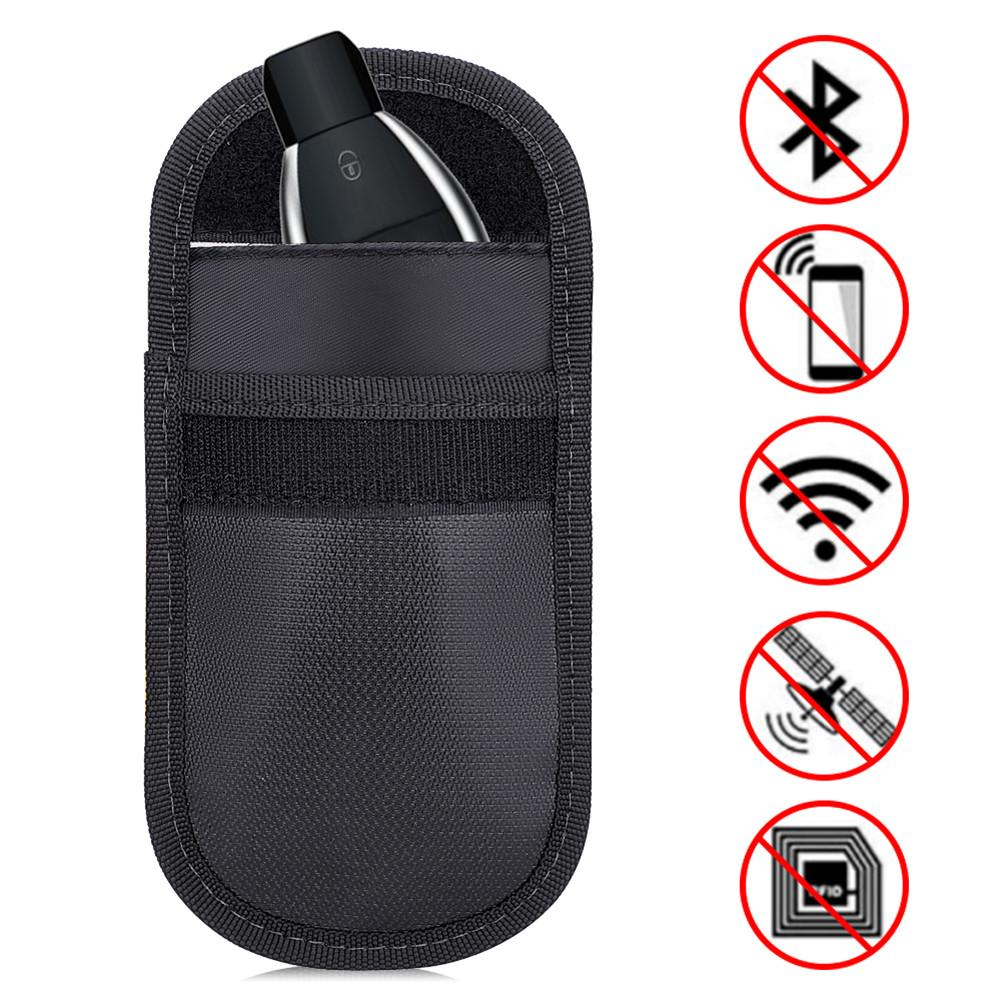 Fireproof Signal Blocking Bag Holder GPS RFID Faraday Bag Shield Cage Pouch Wallet Protective Case For Privacy Protection CarKey