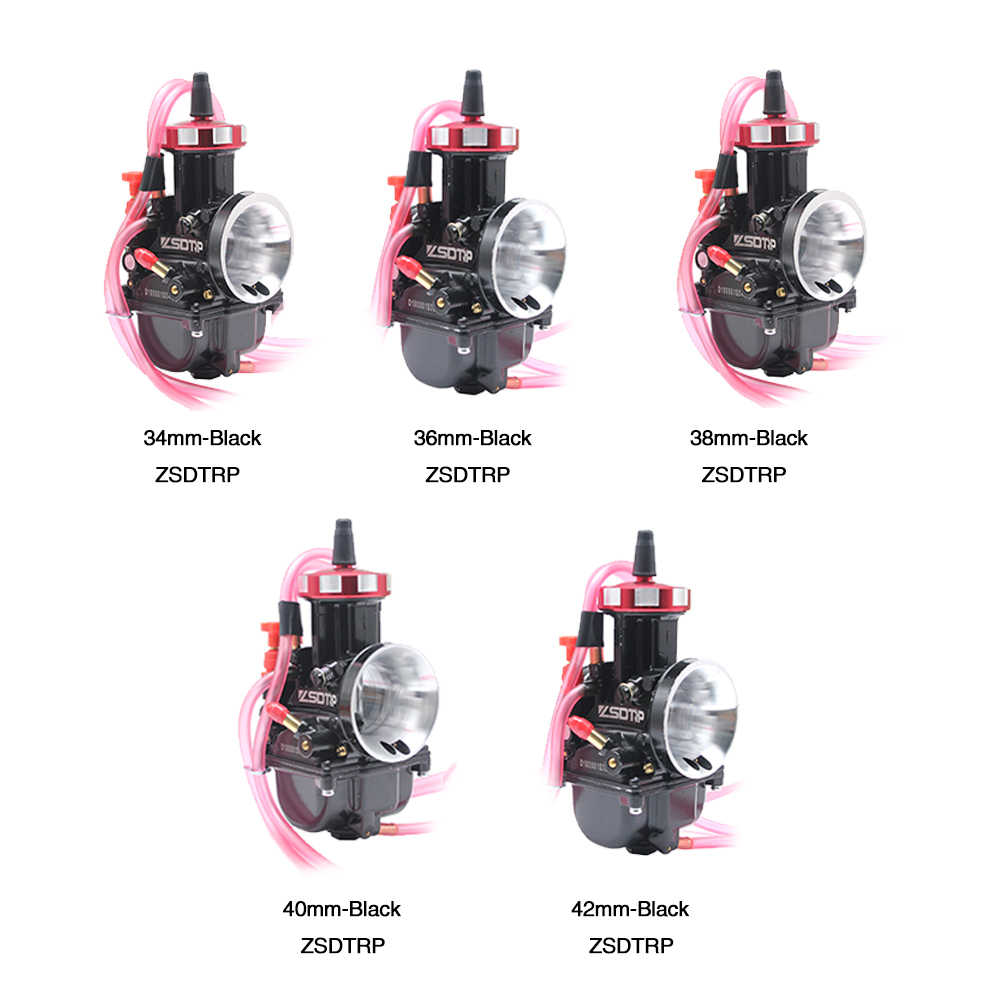 Alconstar- 34 36 38 40 42mm Motorcycle KEIHIN PWK Carburetor with Air  Striker Quad Vent Carb Used 2/4T Engine Scooter Cafe Racer