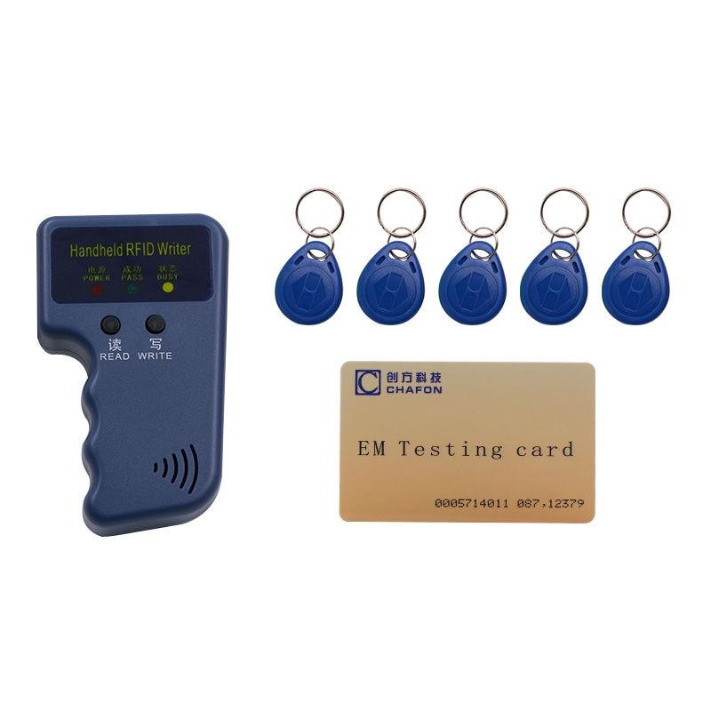De poche 125 Khz EM4100 RFID lecteur copieur writer duplicator (T5557/T5577/EM4305) + 5 pcs EM4305 inscriptibles télécommandes livraison gratuite