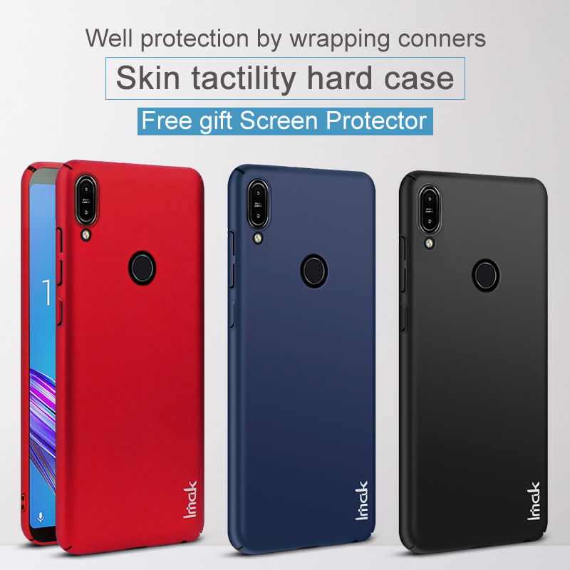 IMAK Jazz Hard Case for Asus Zenfone Max Pro (M1) ZB601KL ZB602KL Glossy PC Full Cover Case for ZB601KL Free Screen Protector