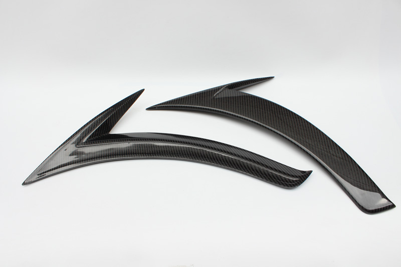 Car-styling Carbon Fiber Fender Garnish Vent Glossy Fibre Air Duct Racing Auto Body Kit Fit For Mercedes Benz C-Class W205 15-16