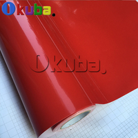 Ultra Glossy Red Vinyl Car Wrap Film Sticker Decal Air Bubble Free Film PVC Wholesale Gloss Wrapping Foil 1.52*20M/Roll