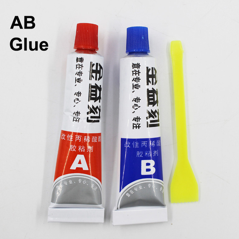 5Sets Super AB Glue 302 Strong Cyanoacrylate Liquid Epoxy Resin Leather Rubber Adhesive Metal Glass Wood  Touch Scren Kit LCD UV