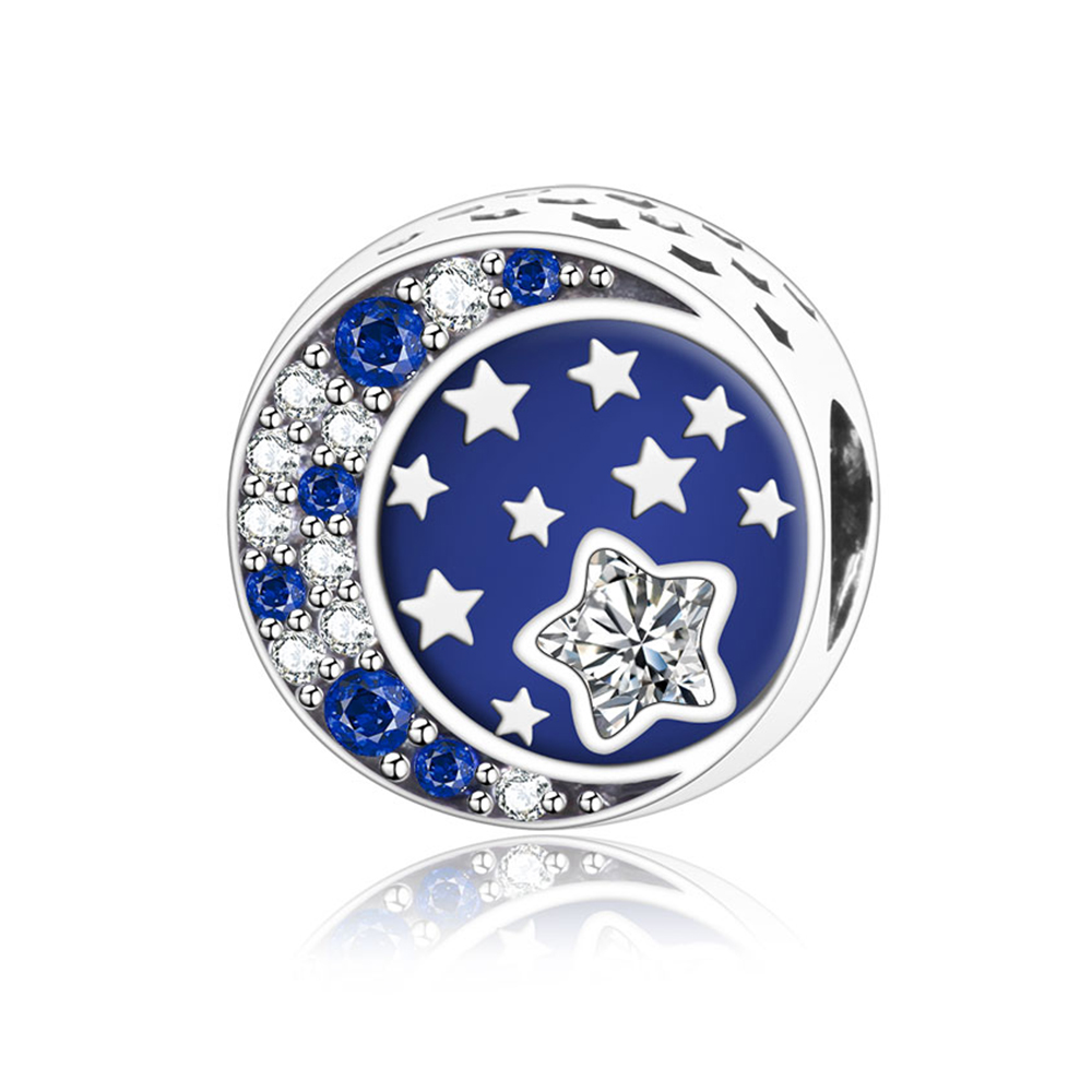 2018 Spring Collection 925 Sterling Silver Star Charms Beads With CZ Enamel Fit Original Pandora Charm Bracelet DIY Jewelry Gift