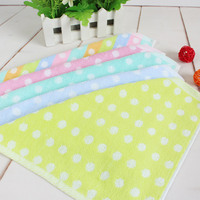 5P Square 26cm Exquisite Flower Kindergarten Children's Saliva Towel Cotton Gauze Hand Towel Sanitary Washcloth Bath Towel