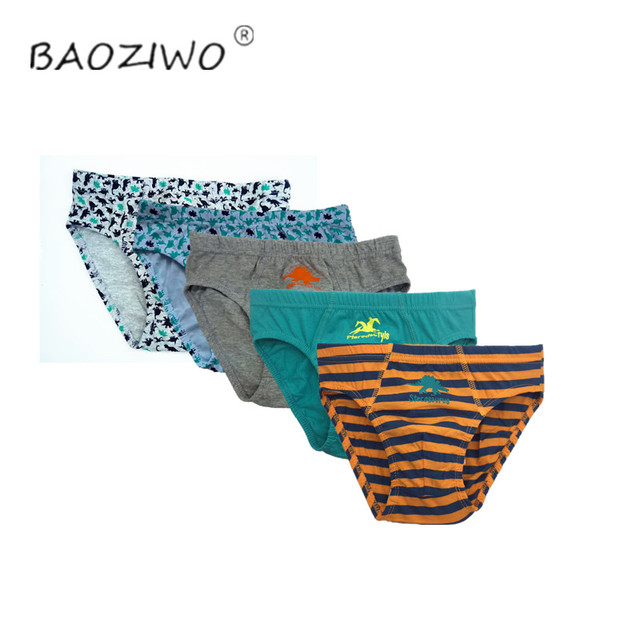 Baoziwo child panties for boys underwear cotton  in brief for teenage boys in size 110/116 134/140