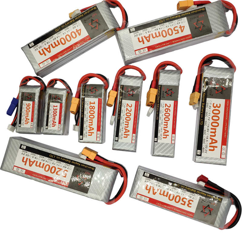 RC Lipo Batterij 4s 14.8v 35C 60C 1300 1800 2200 2600 3000 3500 4500 5000 6000 mAh Voor RC Auto Vliegtuig Boot Helicopter Truck Tank