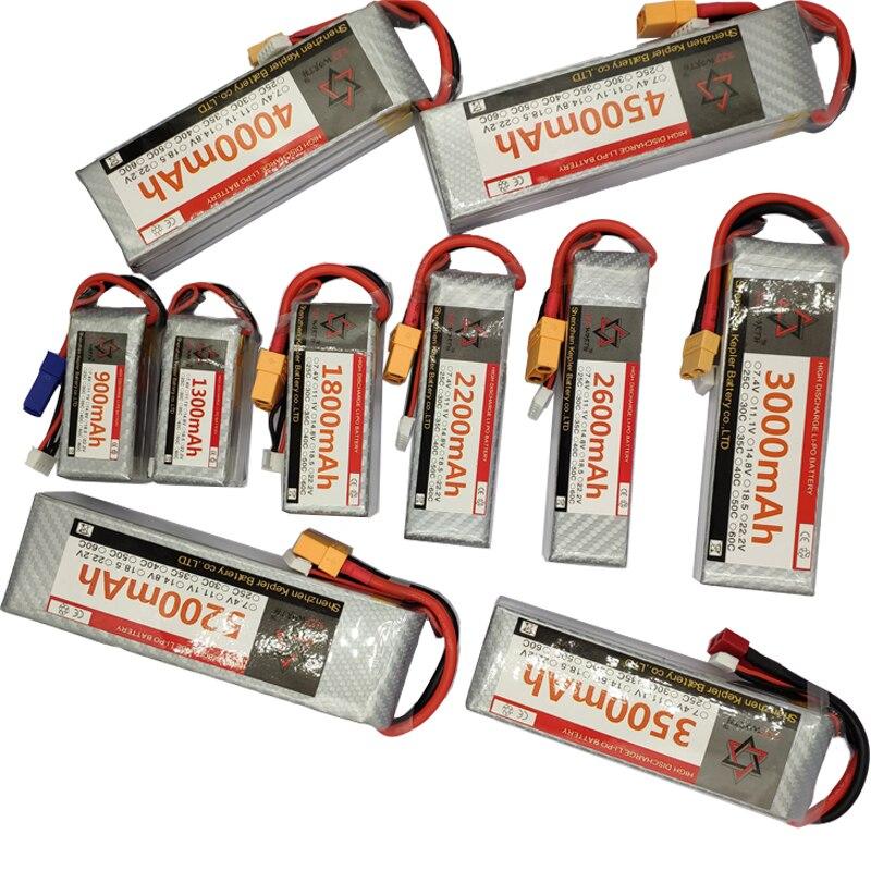 RC リポバッテリー 4 4s 14.8v 35C 60C 1300 1800 2200 2600 3000 3500 4500 5000 6000 用 rc カー飛行機トラックタンク -
