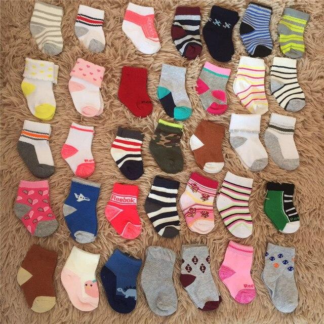 2019 5Pairs Newborn Cotton infant Anti-slip socks Baby socks floor socks Boys Girls Cute Cartoon animal Baby Toddler Socks