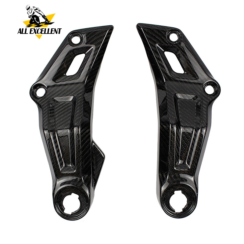 Motorcycle Real Carbon Fiber Side Mid Frame Panels Insert Fairing Cowl twill weave for 2014 2018
