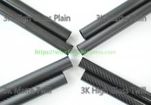 OD 30mm X ID 20mm 25mm x 26mm 27mm 28mm Length 500mm Carbon Fiber Tube (Roll Wrapped), with 100% full carbon