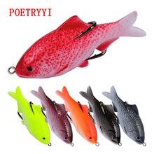 1PC soft tube bait japan plastic fishing lures frog lure treble hooks Topwater ray 9.5CM 18G artificial bait30