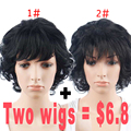 Promotions Short Synthetic Wigs For Black Women Female Wig Natural Hair Short Wigs Hair Cuts For Curly Hair For Women Sale