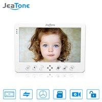 JeaTone HD 1200TVL 10 Inch Video Door Phone Doorbell Video Door Phone Intercom System Indoor Unit