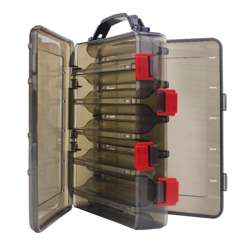 20 x 17 x 5cm Double Side 10 Compartments Fishing Lure Tackle Box Fishing Accessories Storage Case High Strength Box