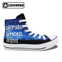 Полиция Box Galaxy Дизайн Converse All Star Для мужчин Для женщин Ручная роспись обувь Спортивная холст кроссовки высокие мужские и женские уникальный подарки