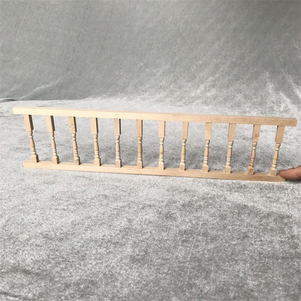 1:12 Doll House Miniature Wooden Guardrail Balustrade Mini Balcony FenJB