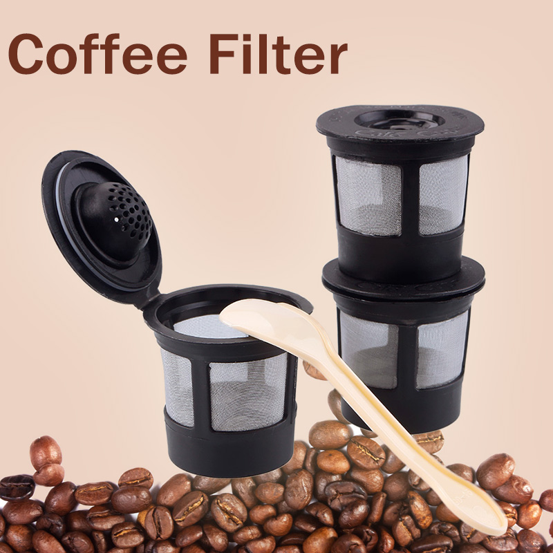 3pcsset coffee filters compatible with keurig k cup coffee system reusable filter - Keurig K Cup