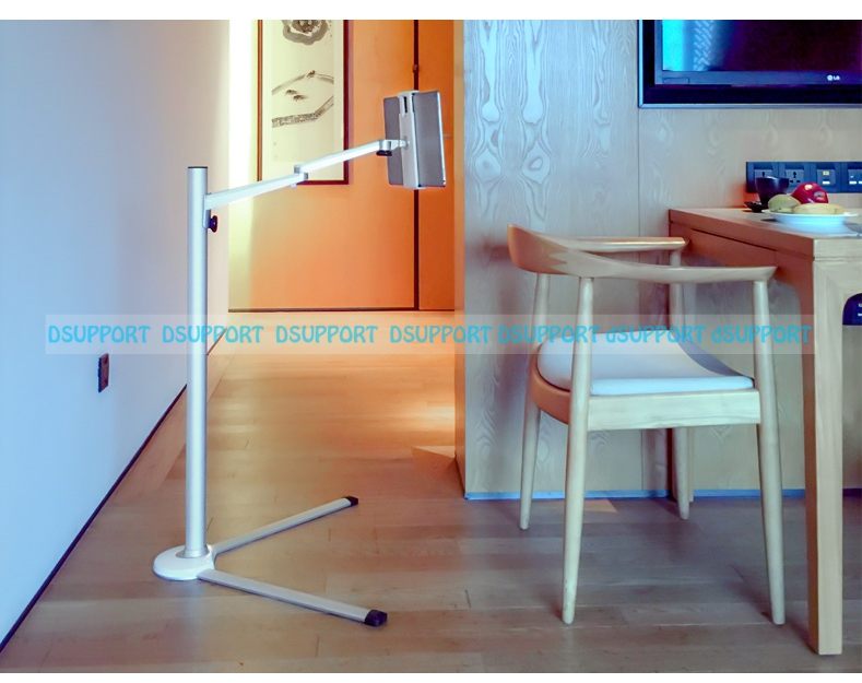 UP-6S Universal Tablet Floor Stand for 7-13 inch Tablet PC/3.5-6 inch Smartphone Lazy Holder Height Adjustable