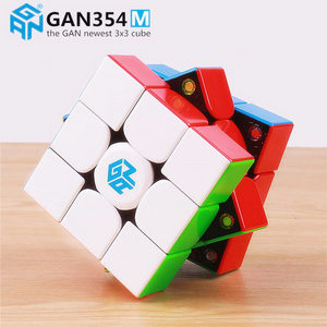 Image 2 - Gan 354 M Magnetic puzzle magic speed Gan cube 3x3 sticker less professional Gan354 M magnets cube GAN354M toys for kid