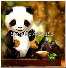 купить DIY 5D Diamond Painting Cross Stitch Animal Mosaic Diamond Embroidery Panda Needlework Patterns Rhinestone Paintings дешево