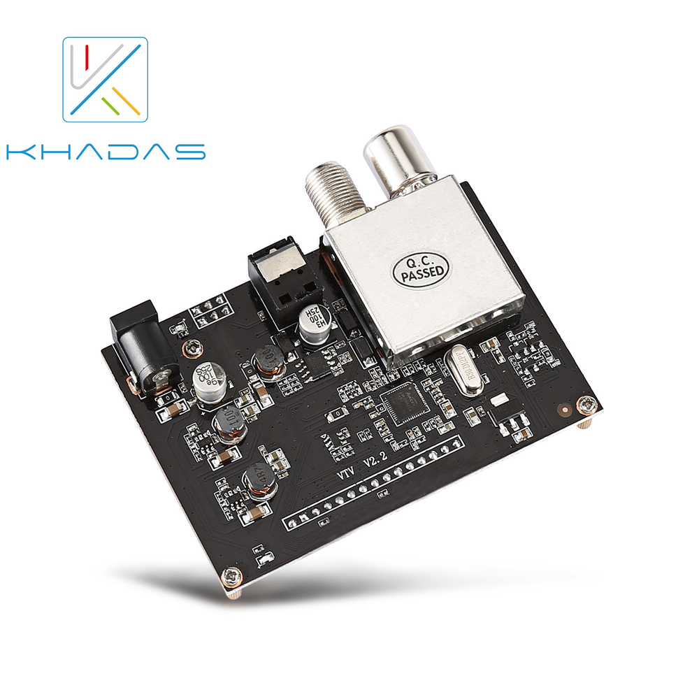 Khadas VTV Extention DVB T Development Board, EU Plug-in Demo Board from Computer & Office