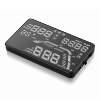 Hot sale colorful OBD 2 Digital speedometer GPS function Consumption Data HUD Display Q7 5.5 Inch Heads Up