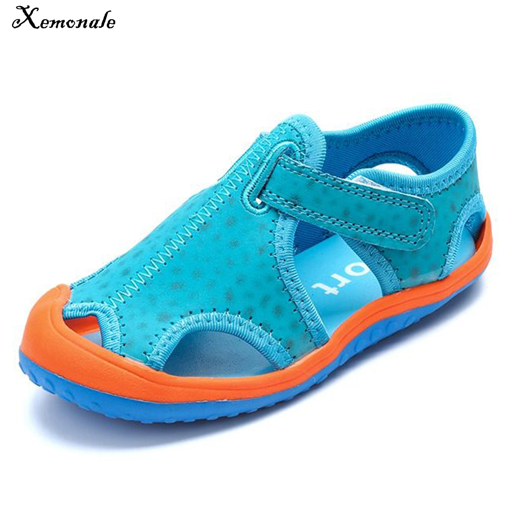 Xemonale new arrivals outdoor beach child boys sandals swiftwater shoes easy on flat with fashion boys kids sandals for girls