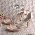 Wedopus MW547 Ladies Shoes Sandals Nude High Heels Rhinestone Prom Shoes