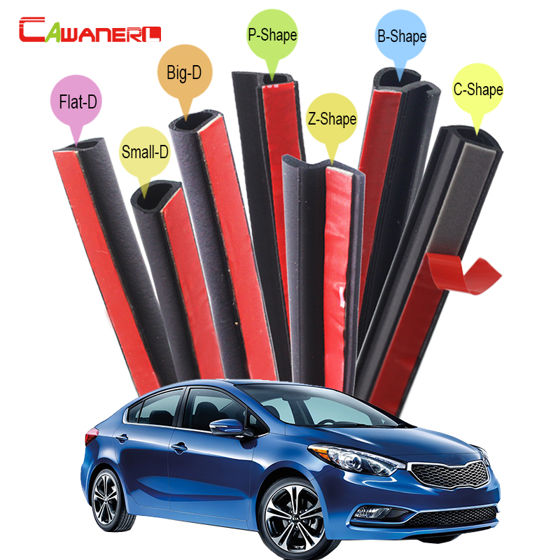 Cawanerl Car Four Door Hood Trunk Sealing Seal Strip Kit Seal Edge Trim Rubber Weatherstrip For Kia Forte K2 K3 K3S K4 cawanerl whole car hood trunk door sealing seal strip kit seal edging trim rubber weatherstrip for jaguar c x17 f pace