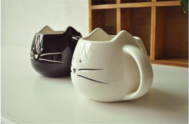 Cute Cat Face Ceramic Coffee Tea Mug