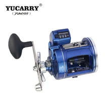 YUCARRY Brand Left/Right Hand 12 Ball Bearings Fishing Reel High Speed Bait Casting Fishing Reel with Depth Counting Multiplier цена