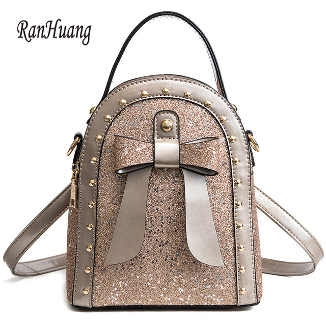 5c7def4526 RanHuang New 2018 Women Fashion Backpack Small Paillette Backpack High  Quality Leather Backpack Girls Cute Rucksacks