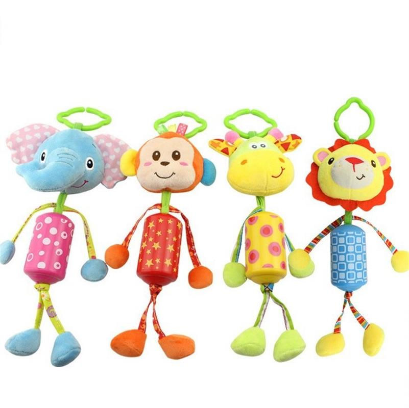 1PC Baby musical plush Animal Toys mobile windbell rattle Stroller Crib Pram Hanging toy juguetes brinquedos bebes jouet cadeau