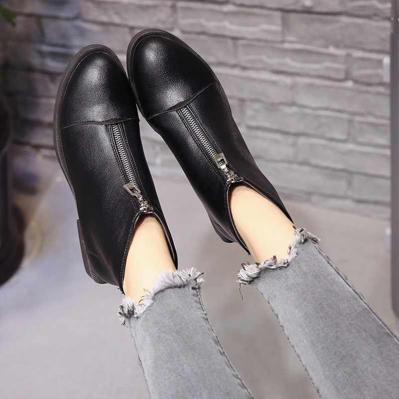 2019 Kayma Elastik Bant lastik çizmeler Kış Varış Ayak Bileği Chelsea çizmeler kadın ayakkabıları Sonbahar Kare Topuk Kadın Ayakkabı