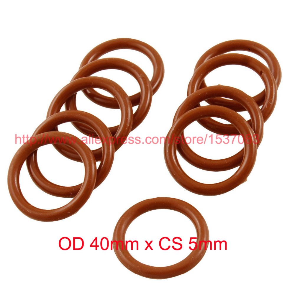OD 40mm x CS 5mm silicone o ring o ring oring washer-in Gaskets from Home Improvement    1