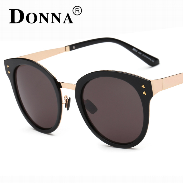 Donna Fashion Sunglasses Women Luxury Brand Designer Vintage Sun glasses  Female Rivet Shades Big Frame Style a7271d7918