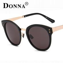 Donna Fashion Sunglasses Women Luxury Brand Designer Vintage Sun glasses Female Rivet Shades Big Frame Style Eyewear UV400