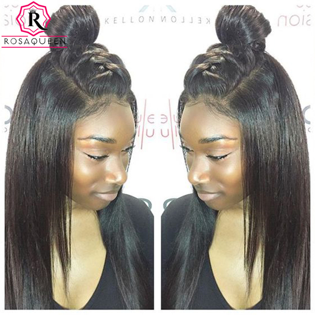 360 Lace Wig 7A Lace Front Human Hair Wigs For Black Women 360 Full Lace  Human Hair Wigs Silk Straight Lace Frontal Wig 1e4179dbd