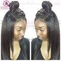 360 Peruca 7A Parte Dianteira Do Laço Perucas de Cabelo Humano Para Preto mulheres 360 Seda Cheia Do Laço Perucas de Cabelo Humano Laço Frontal Reta peruca