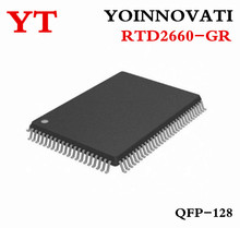 10pcs lot RTD2660 RTD2660 GR LCD TV motherboard driver chip QFP128 IC Best quality.