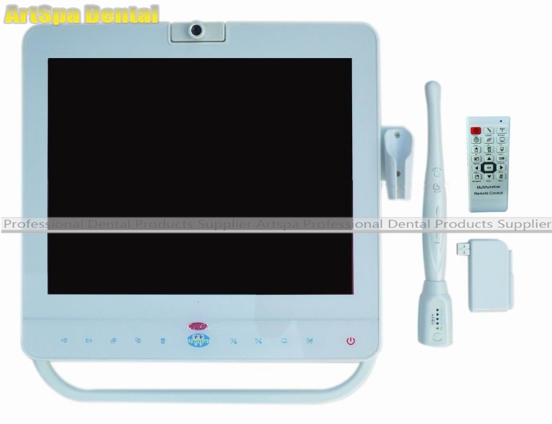 15 Inch Wireless Dental Monitor Intraoral Camera System LCD Holder MD1500 oral camera endoscope all in one Good Quality dental endodontic root canal endo motor wireless reciprocating 16 1 reduction